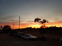 Pedy Sonnenaufgänge Coober australisch Lizenzfreies Stockbild
