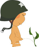 Pee Boy In A Helmet Stock Images