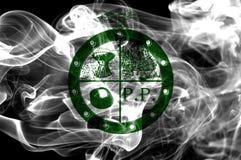 Pee Pee Township city smoke flag, Ohio State, United States Of A. Merica Stock Photography
