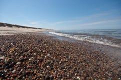 Peeble beach. On Ustka in Poland stock image