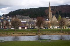 Peebles from across the Tweed Stock Photography
