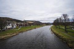 Peebles und der Fluss-Tweed, Schottland Stockbilder