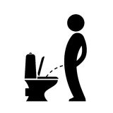 Peeing man wc sign. Peeing man wc vector sign Stock Image