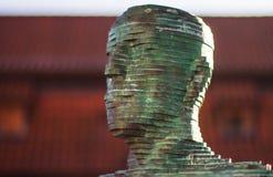Peeing statues prague. Green statue in Prague peeing Royalty Free Stock Images