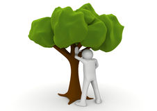 Peeing by the tree - Ecology collection Stock Photo