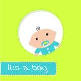 Peek-a-boo baby shower card. Its a boy Stock Photos