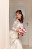 Peek a boo bride Stock Image