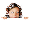 Peek-a-Boo Gingerbread Girl Royalty Free Stock Photography