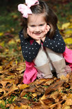 Peek-a-boo in the leaves Stock Photos