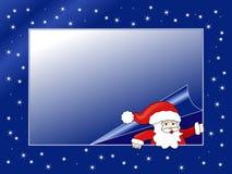 Peek-a-boo Santa Claus vector illustration