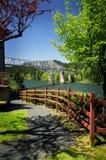 Peek of Bridge royalty free stock images