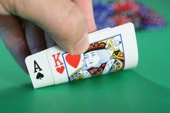 Peek em um ás e em um rei Fotos de Stock Royalty Free