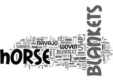 A Peek Into The History Of Horse Blankets Word Cloud. A PEEK INTO THE HISTORY OF HORSE BLANKETS TEXT WORD CLOUD CONCEPT Stock Photo