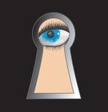 Peek through keyhole Royalty Free Stock Image