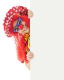Peekaboo-Clown Stockfoto