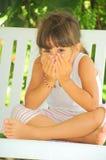 Peekaboo (girl portrait) Royalty Free Stock Image
