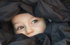 Peekaboo van het kind Stock Afbeelding