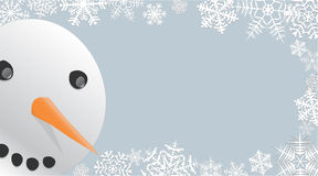 peeking снеговик иллюстрация штока