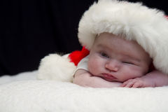 Peeking Baby Santa Royalty Free Stock Photo