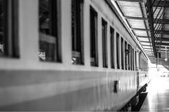 Peeking. KTM Train Passenger Black White Monochrome Hatyai Thailand bangkok Abandon Royalty Free Stock Photos