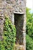 Peeking Medieval Window stock photos