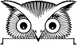 Peeking Owl Motif Royalty Free Stock Photo