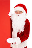 Peeking Santa Stock Images