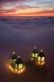 Peeking skyscraper Royalty Free Stock Photography