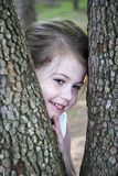 Peeking Between the Trees Royalty Free Stock Image
