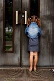 Peeking in the window royalty free stock photo