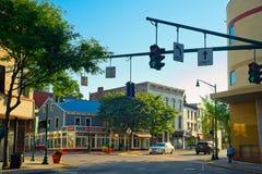 Peekskill NY i stadens centrum genomskärning arkivbilder