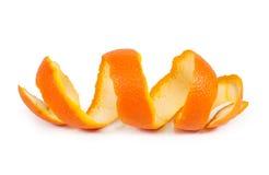 Peel. Orange peel isolated on white background Royalty Free Stock Images