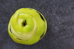 Peel of apple. On a grey background Royalty Free Stock Photography