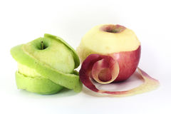 Peel apple Royalty Free Stock Images