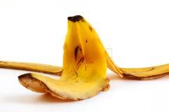 Peel of a banana. On white background Stock Image