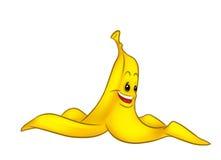 Peel Banana funny cartoon Stock Images