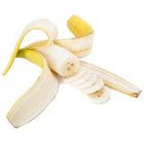 Peel the banana isolated on white Stock Photography