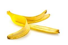 Peel a banana on  white Stock Photography