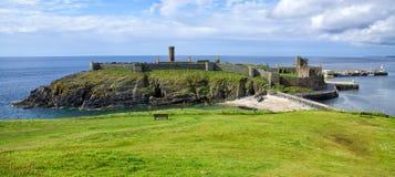 Peel Castle. On Isle of Man Stock Images