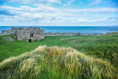 Peel Castle`s wall, Isle of Man Royalty Free Stock Images