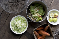 Peel And Chop Vegetables Royalty Free Stock Images