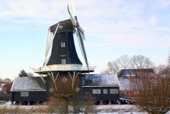 Peel and corn mill. `The Fram` from 1867 at Woltersum. The Netherlands Stock Image