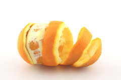 Peel navel orange Stock Images