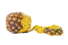 Peel off pineapple isolated on white background Stock Image