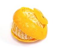 Peel of an orange. Isolated on white background Royalty Free Stock Image