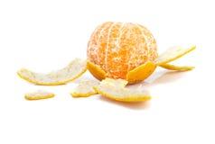 Peel of an orange. On white background Stock Photo