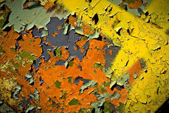 Peel painted rusty surface texture Stock Photo