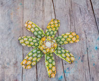 Peel of pineapple Royalty Free Stock Photography