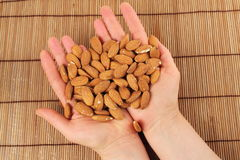Peeled almond Stock Photos