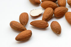 Peeled almond Stock Images
